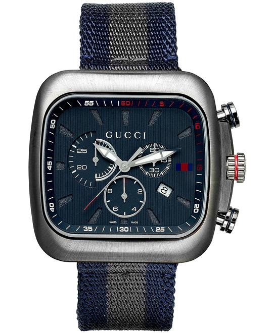 Gucci Chronograph  Men's Swiss Watch 44mm