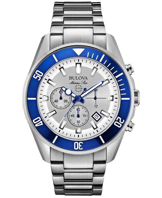Bulova Men's Chronograph Marine Watch 43mm