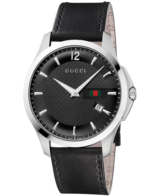 Gucci G-Timeless  Men's Leather Strap Watch 40mm