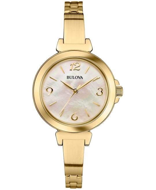Bulova Women's Gold-Tone Watch 30mm