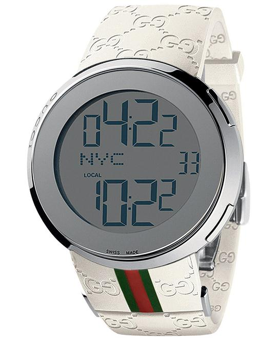 Gucci I-Gucci  Men's White Rubber Strap Watch 44mm