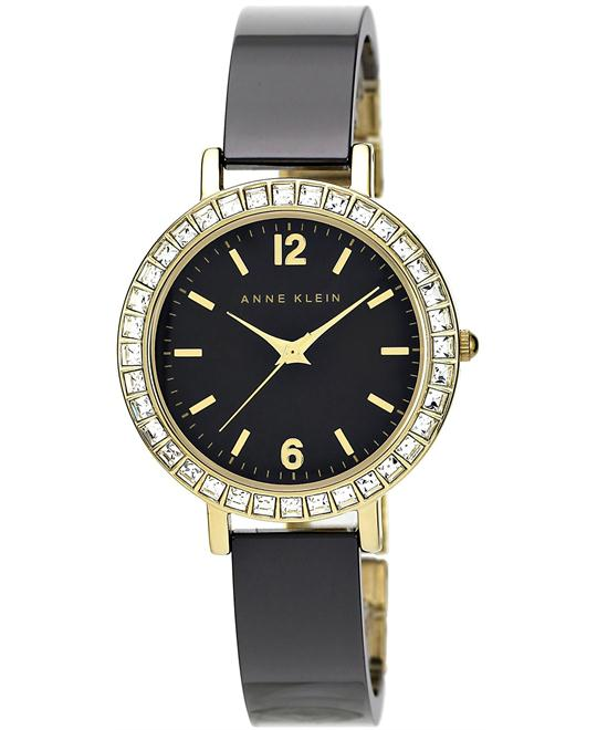 Anne Klein Watch, Women's Black Ceramic Bracelet 32mm