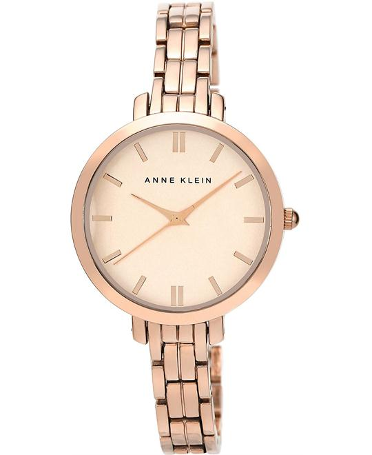 Anne Klein Watch, Women's Rose Gold Bracelet 33mm