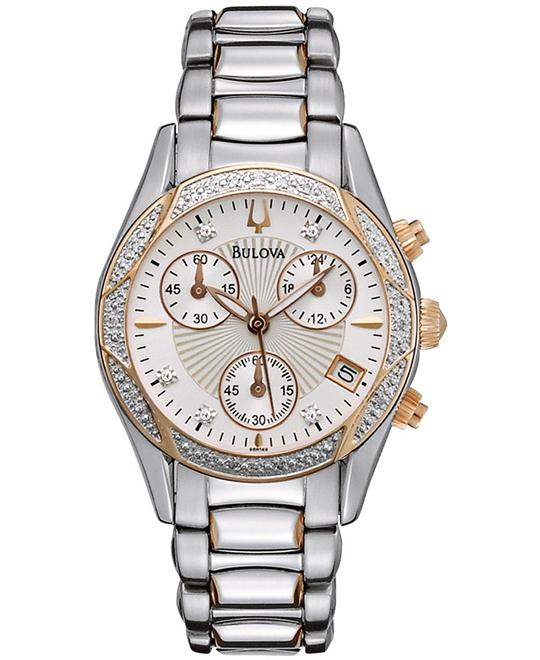 Bulova Women's Chronograph Diamond Watch 32mm