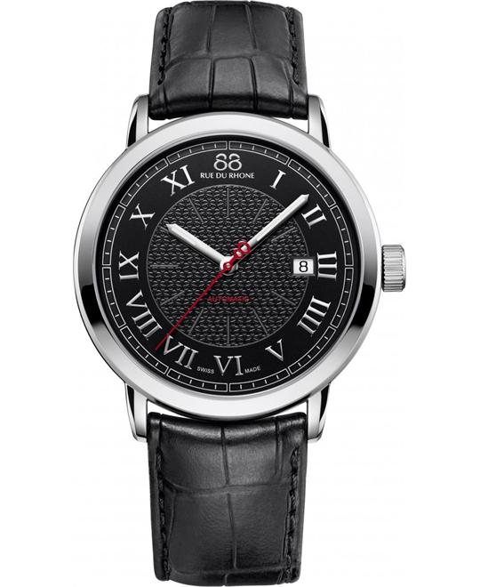 88 Rue du Rhone Automatic Black Dial Mens Watch 42mm