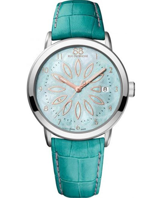 88 Rue Du Rhone Blue Leather Ladies Watch 38mm
