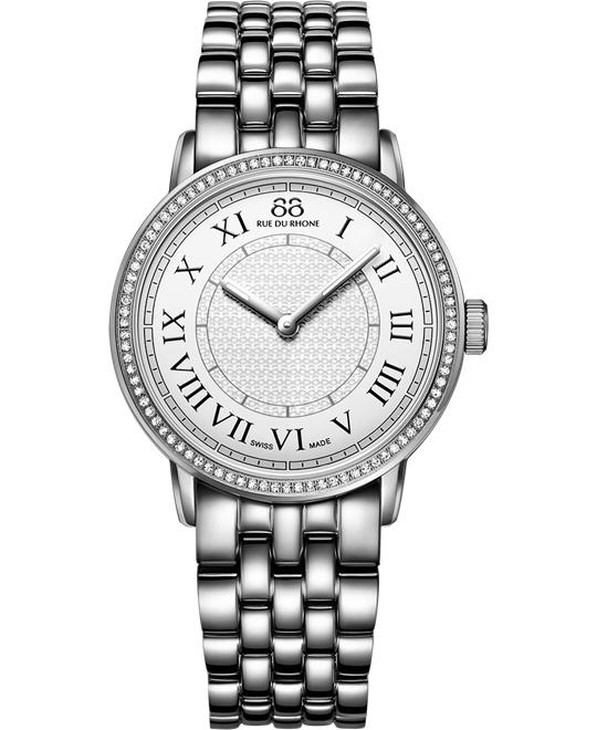 88 Rue du Rhone Ladies diamonds Stainless Steel 35mm