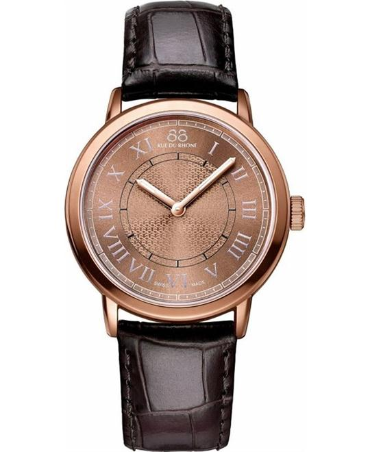 88 Rue du Rhone Ladies rose gold Leather Watch 35mm