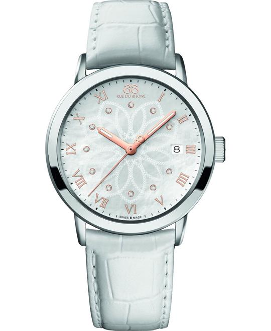 88 Rue du Rhone Ladies Leather Watch 39mm
