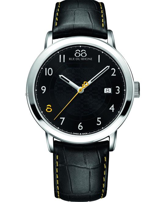 88 Rue du Rhone Men's Swiss Black Watch 42mm