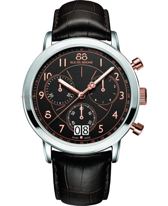 88 Rue du Rhone Men's Swiss Quartz Brown Watch 45mm