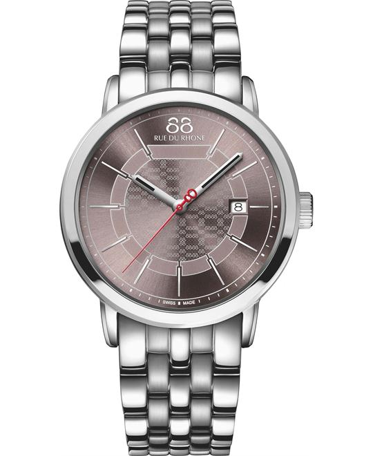 88 Rue du Rhone Men's  Swiss Quartz Silver Watch 43