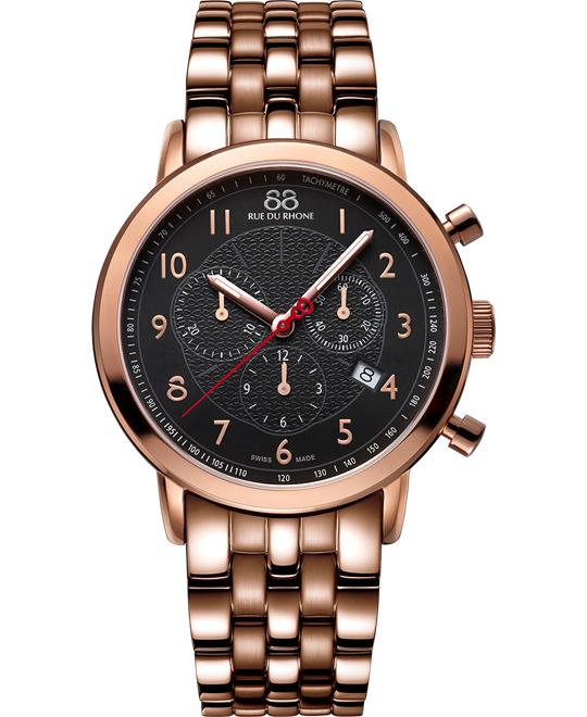88 Rue du Rhone Men's Swiss rose gold Watch 42mm