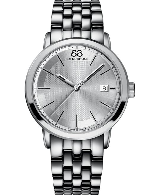 88 Rue du Rhone Men's Swiss Silver Stainless steel 42mm