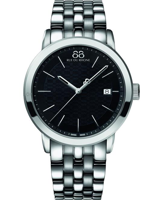 88 Rue du Rhone Men's Swiss Sapphire Watch 45mm