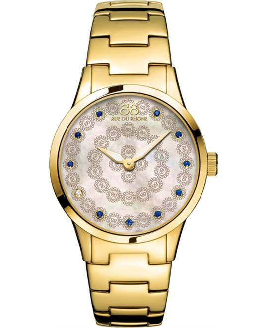 88 Rue du Rhone Rive gold plated bracelet watch 32mm