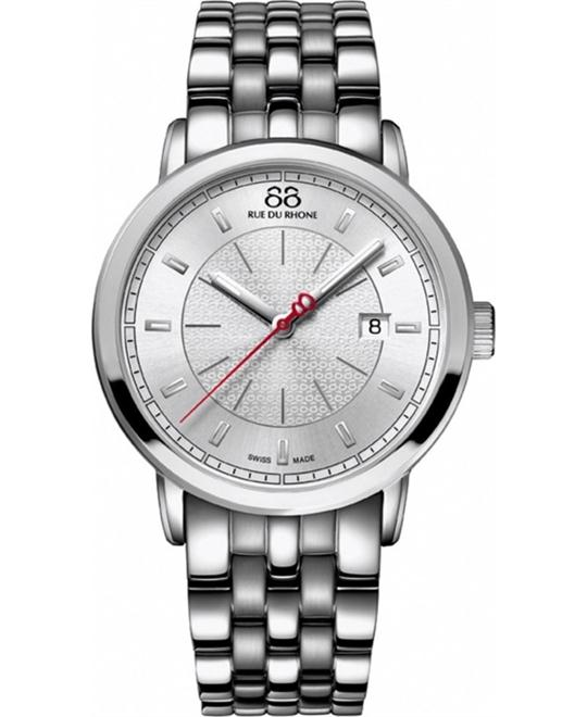 88 Rue du Rhone Silver Dial Men's Watch 42mm