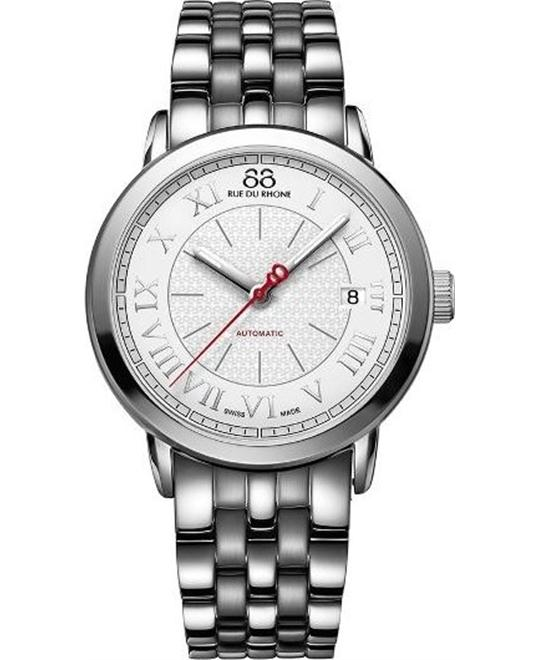 88 Rue du Rhone Swiss Automatic Silver Watch 35mm
