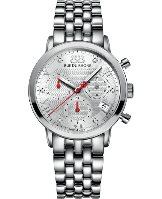 88 Rue du Rhone Women's Swiss Chrono Stainless steel 35mm
