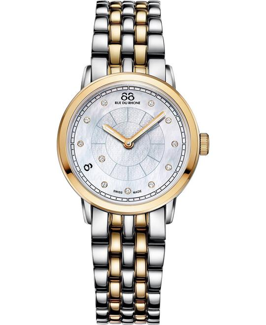 88 Rue du Rhone Women's Swiss diamond Watch 29mm