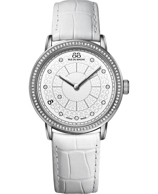 88 Rue du Rhone Women's Swiss diamonds Watch 35mm