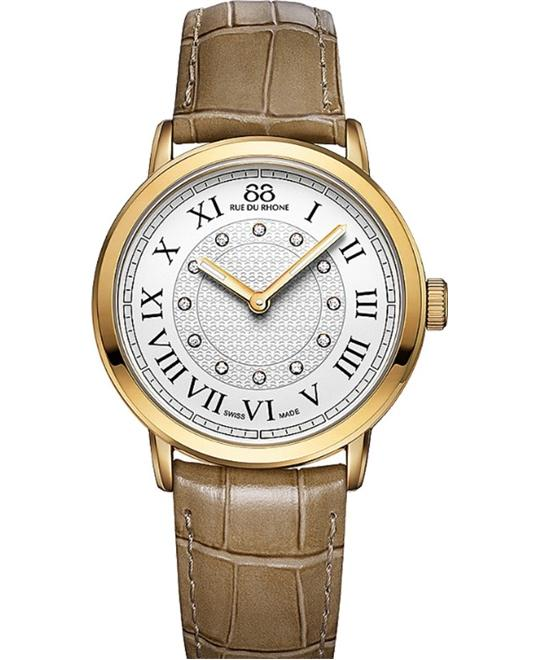 88 Rue du Rhone Women's Swiss Quartz Beige Watch 35mm