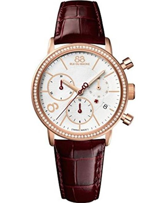 88 Rue du Rhone Women's Swiss Quartz Red Watch 335mm