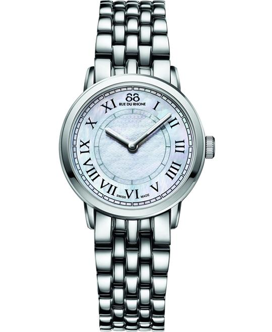 88 Rue du Rhone Women's Swiss Quartz Silver Watch 29mm