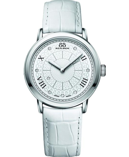 88 Rue du Rhone Women's Swiss Quartz White Watch 35mm