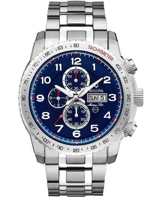 Bulova Marine Star Sport Chronograph Blue Watch 47mm