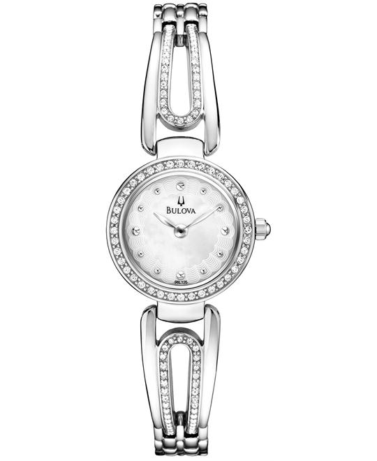 Bulova Women's Crystal-Accented Bangle Watch 23mm