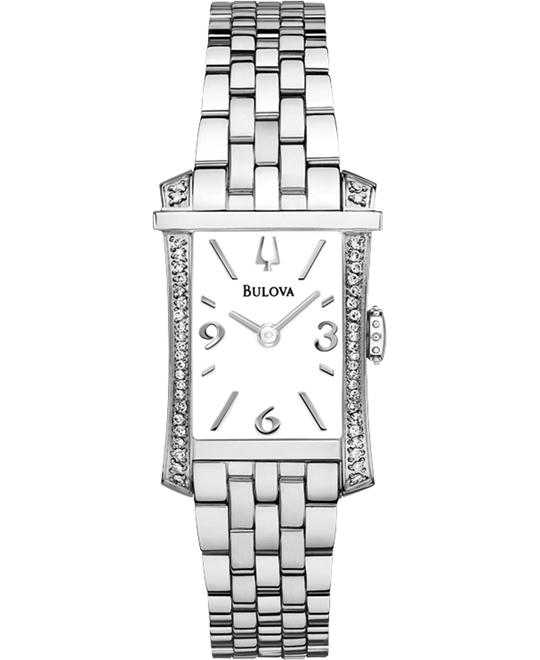 Bulova Diamond White Dial Stainless Ladies Watch 20mm