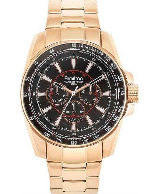 Amitron Men's Rose Gold Watch, 46mm