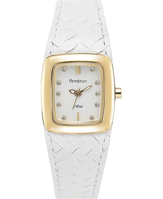Amitron Women's Gold- White Woven, 23mm