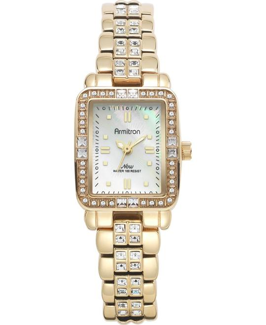 Amitron Women's Swarovski Gold Watch, 23mm