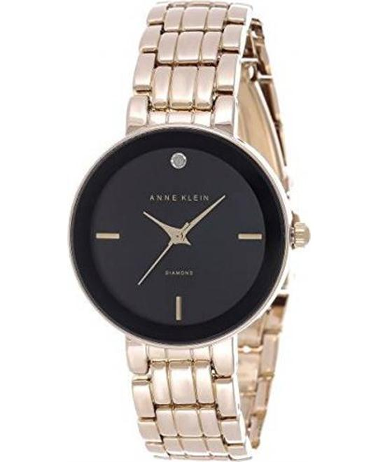 Anne Klein Black Dial Gold-tone Bracelet Watch 32mm