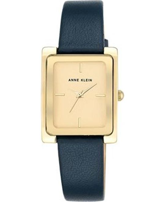 Anne Klein Blue Leather Strap Watch 28x35mm