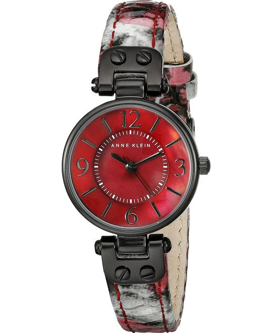 Anne Klein Burgundy Snake Patterned Women's Watch 26mm