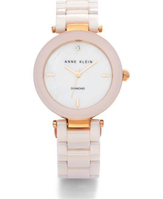 Anne Klein Ceramic Watch, Women's Diamond, 33mm