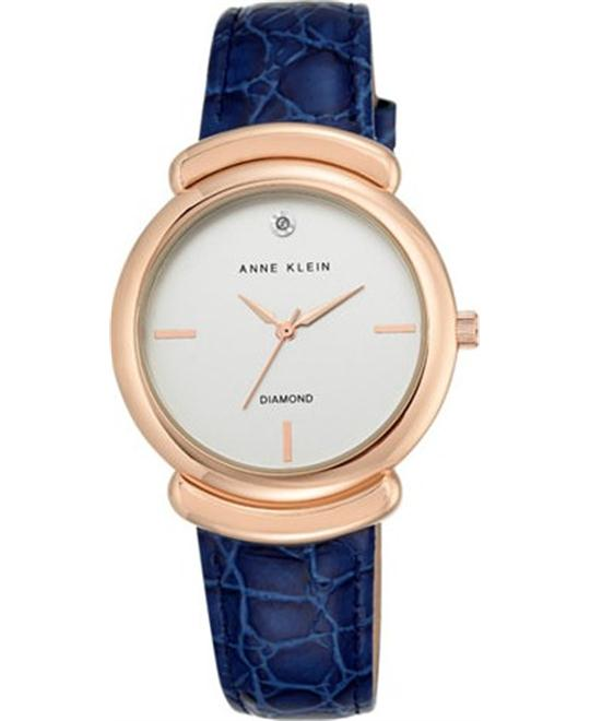 Anne Klein Diamond Accent Navy Watch 36mm