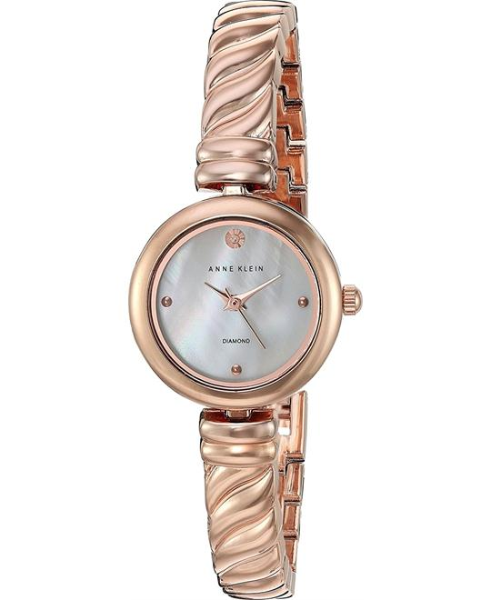 Anne Klein Diamond-Accented Watch 24mm
