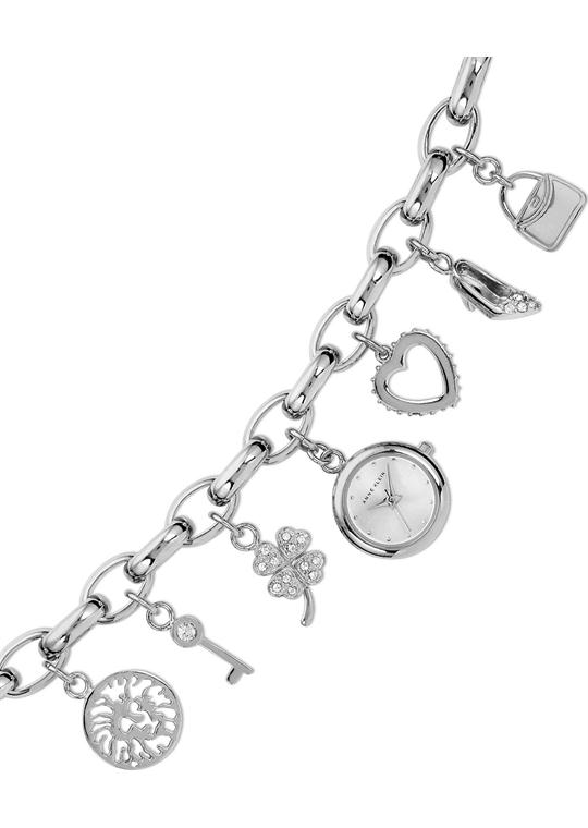 Anne Klein Watch, Women's Charm Bracelet 17mm