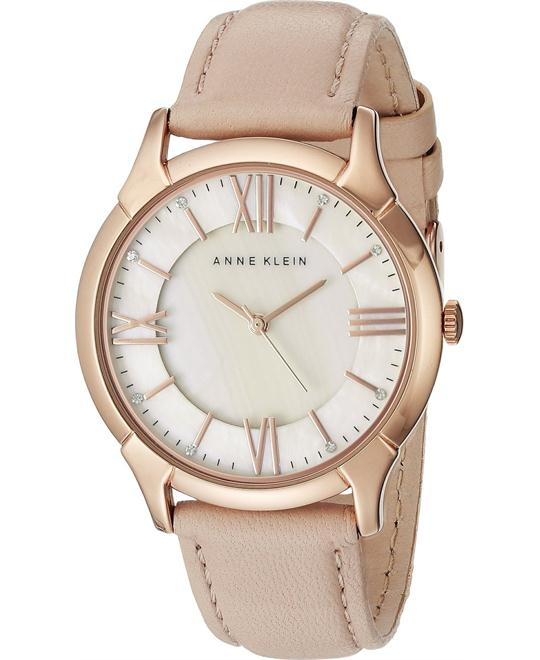 Anne Klein Watch Women's Leather Strap 36mm