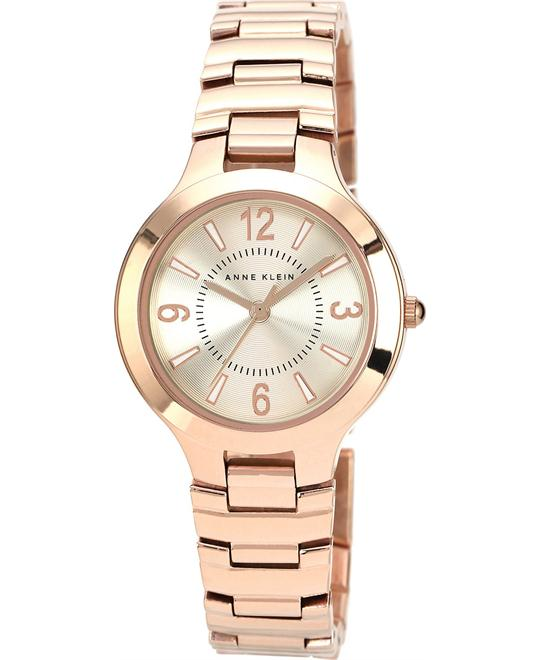 Anne Klein Watch, Women's Rose Gold-Tone Bracelet 32mm