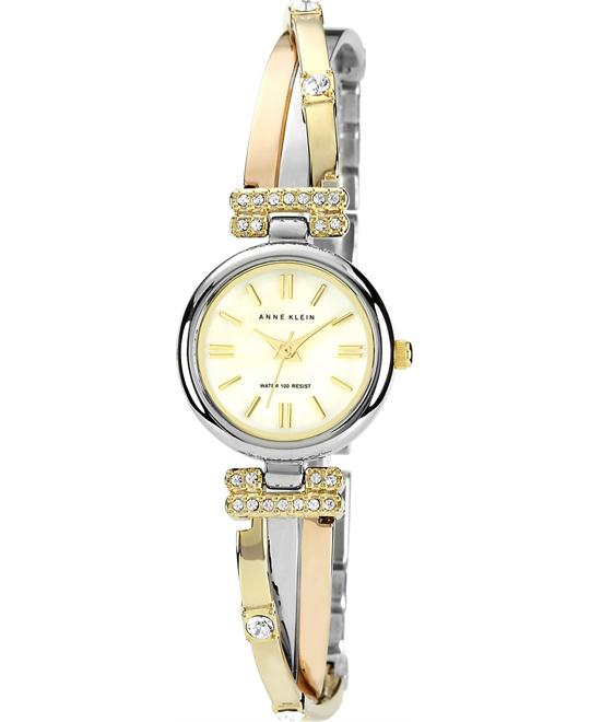 Anne Klein Watch, Women's Three Tone X-Shaped 22mm