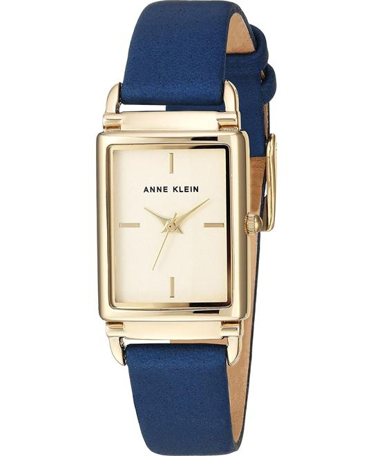 Anne Klein Dark Blue Leather Watch 21x39mm