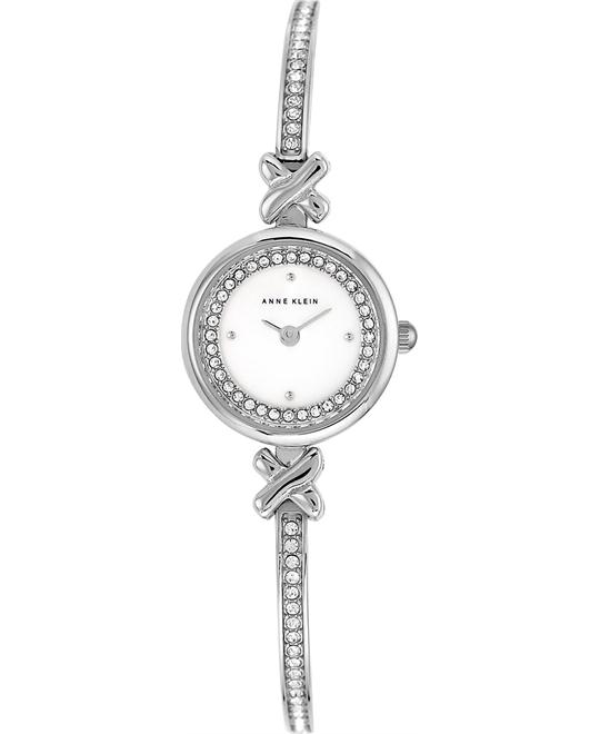 Anne Klein Women's Crystal Accent Silver-Tone Watch 20mm