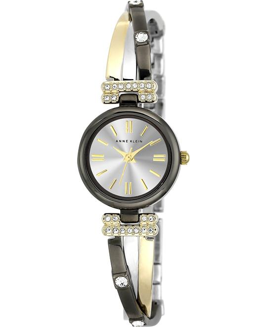 Anne Klein Women's Crystal Accent Tri-Tone Crisscross Watch 22mm