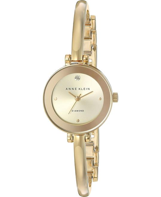 Anne Klein Women's Diamond-Accented Bangle Watch 24MM
