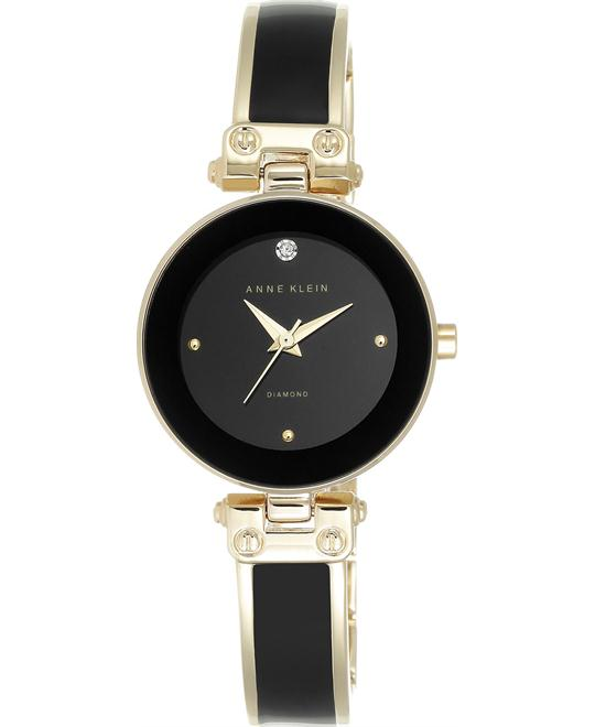 Anne Klein Women's Diamond Black  Watch 34mm